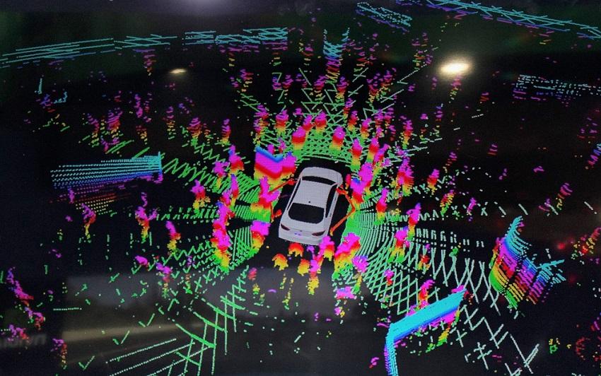mesterséges intelligencia által alkotott kép az autó környezetéről