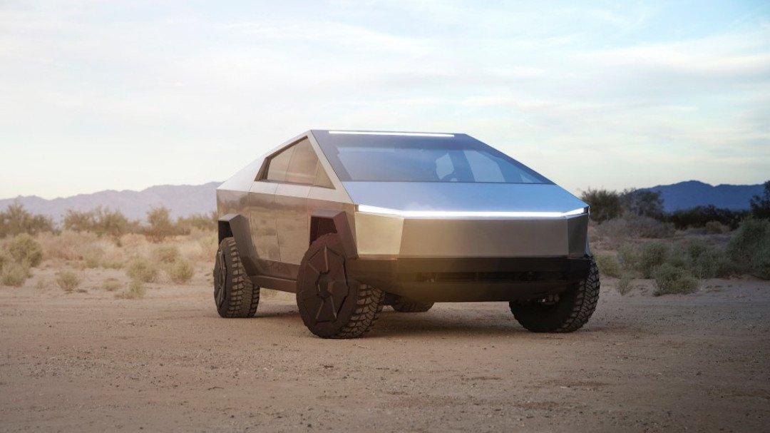 Tesla Cybertruck szemből
