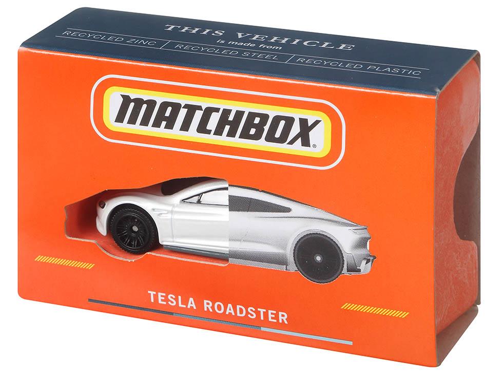 becsomagolt Matchbox Tesla Roadster