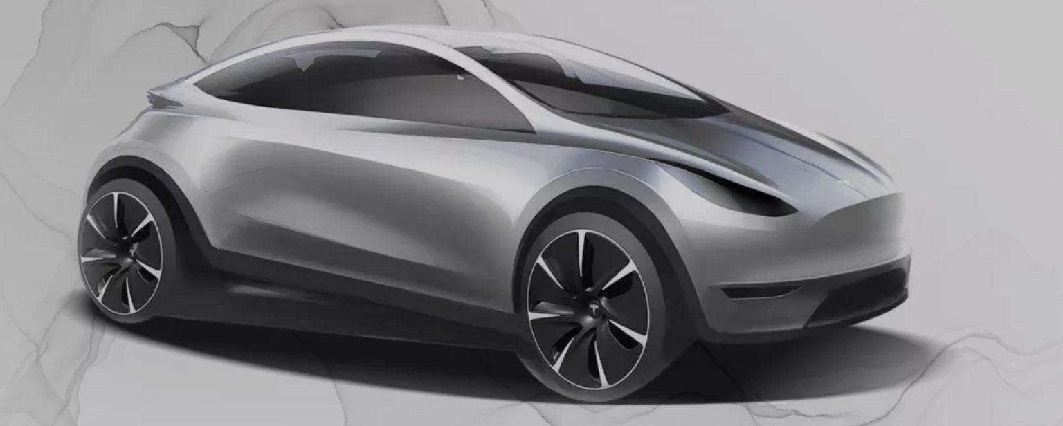 Tesla hatchback – látványterv