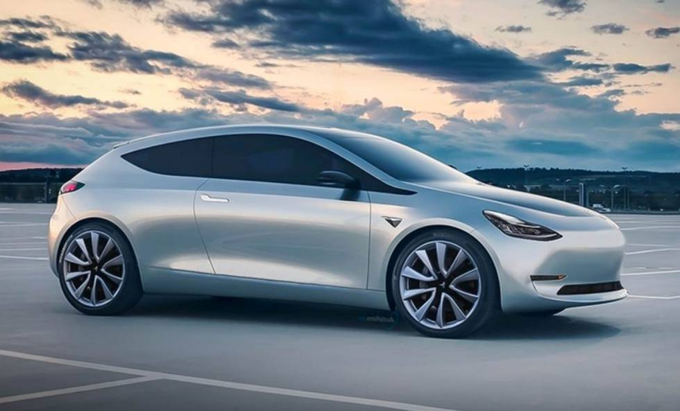 25 ezer dolláros Tesla oldalról – látványterv