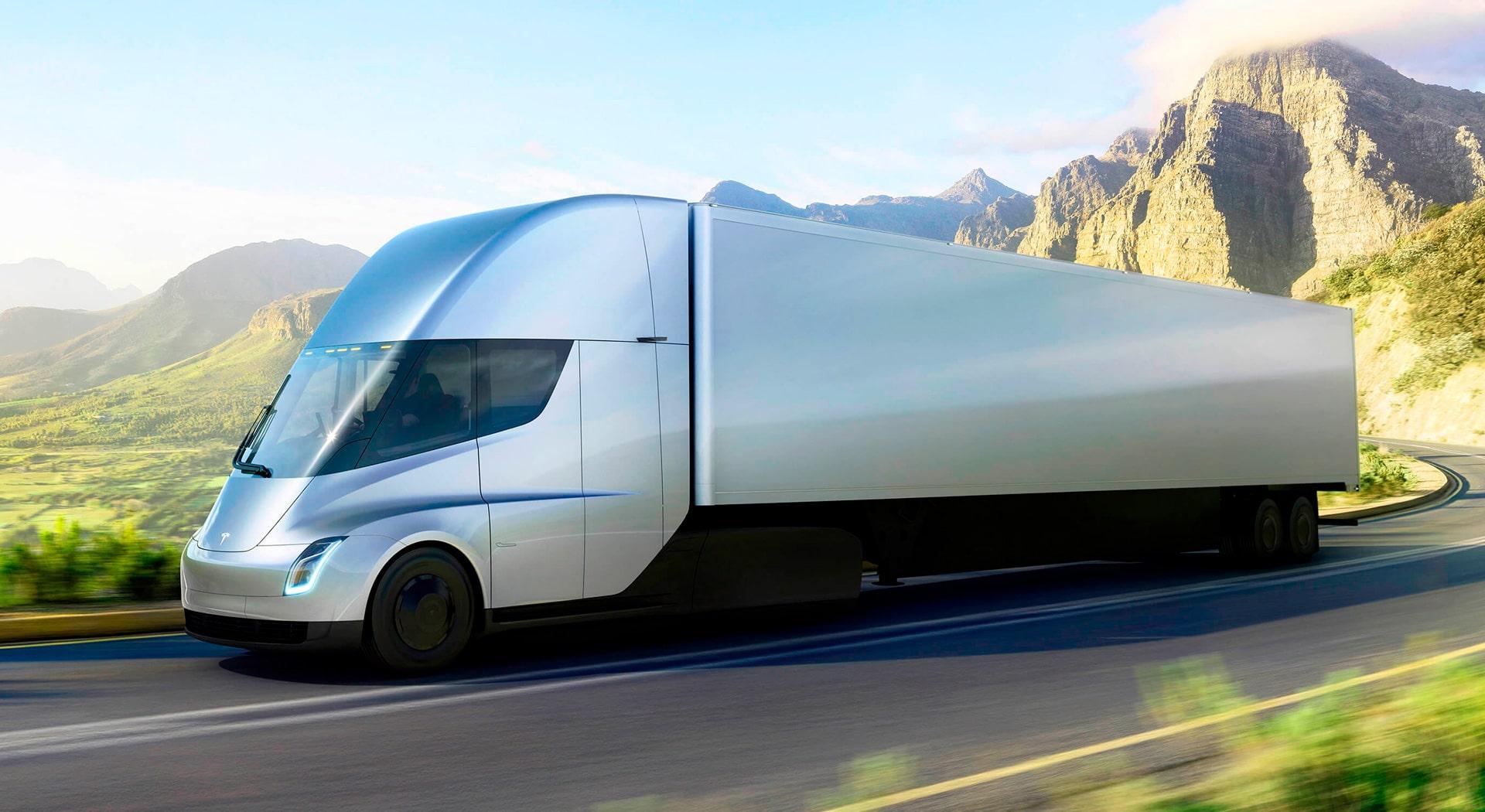 Tesla Semi elektromos kamion – látványterv
