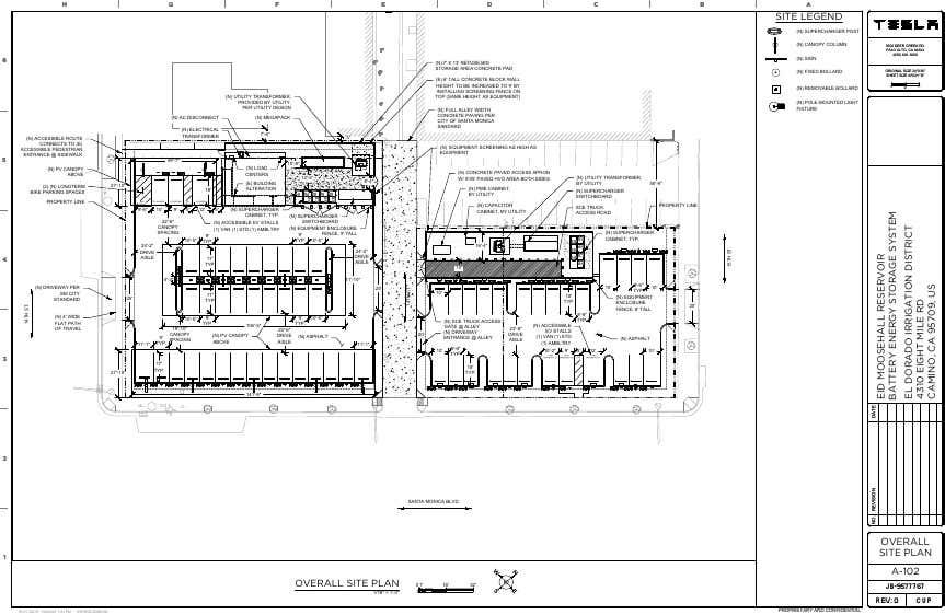a Santa Monicába tervezett retró Supercherger állomás hivatalos tervrajzai