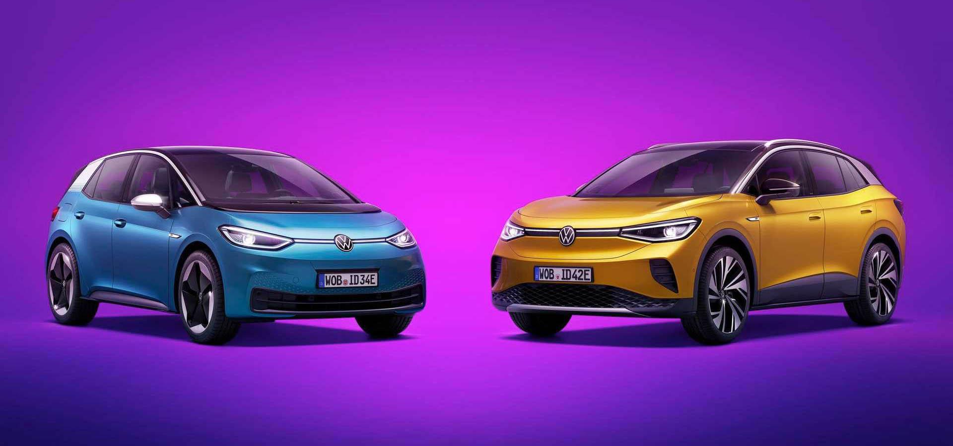 Volkswagen ID.3 és ID.4 egymás mellett